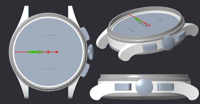 3D CAD model - Concept Design (Comet Chronograph)
