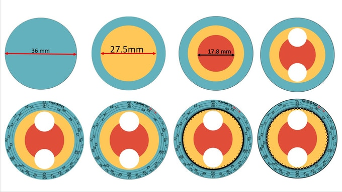 Dial printing - assembly sequence#1  example (Comet Chronograph)