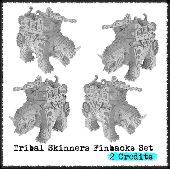 Tribal Skinners Finbacks Set - Metal