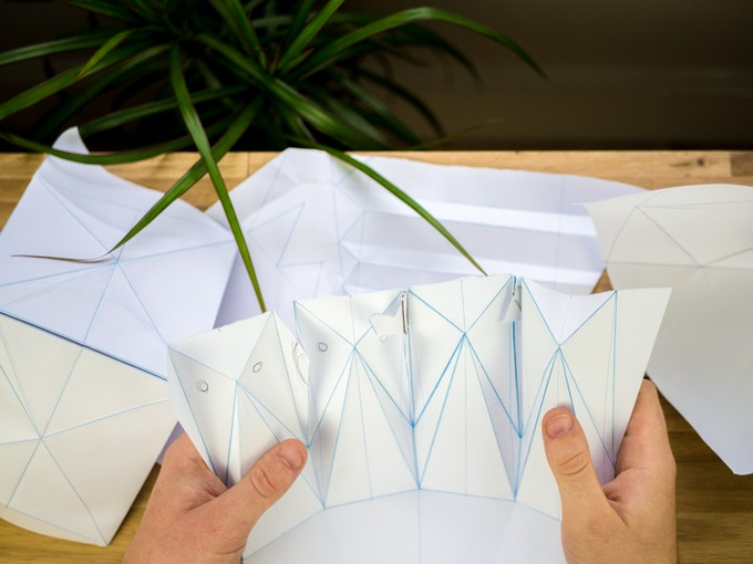 Origami pattern making