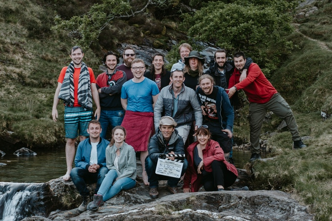 The wrap photo of the team from Block 1 of filming