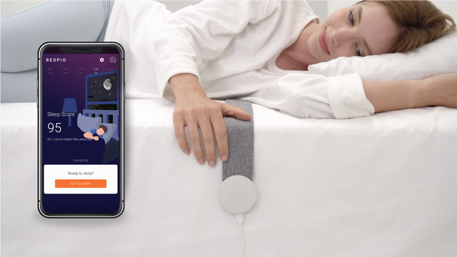 Free yourself from Sleep Debt with Repsio Sleep Coach that helps improve your sleep quality, breathing patterns and sleep environment