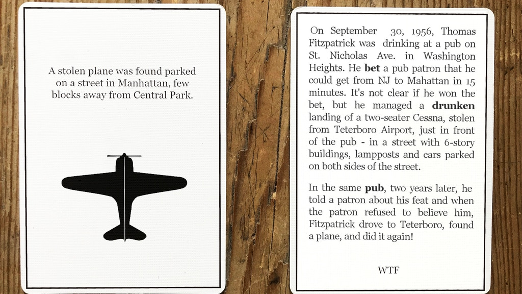 Project image for What The Fact!? - A card game of weird true stories