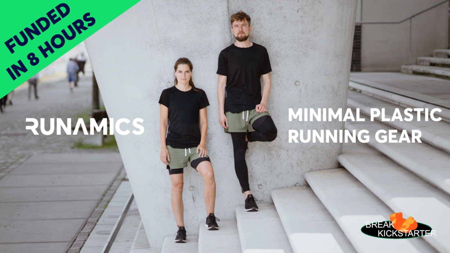 Functional and kick-ass looking alternative to plastic running gear. Let's fight the microplastics epidemic together.