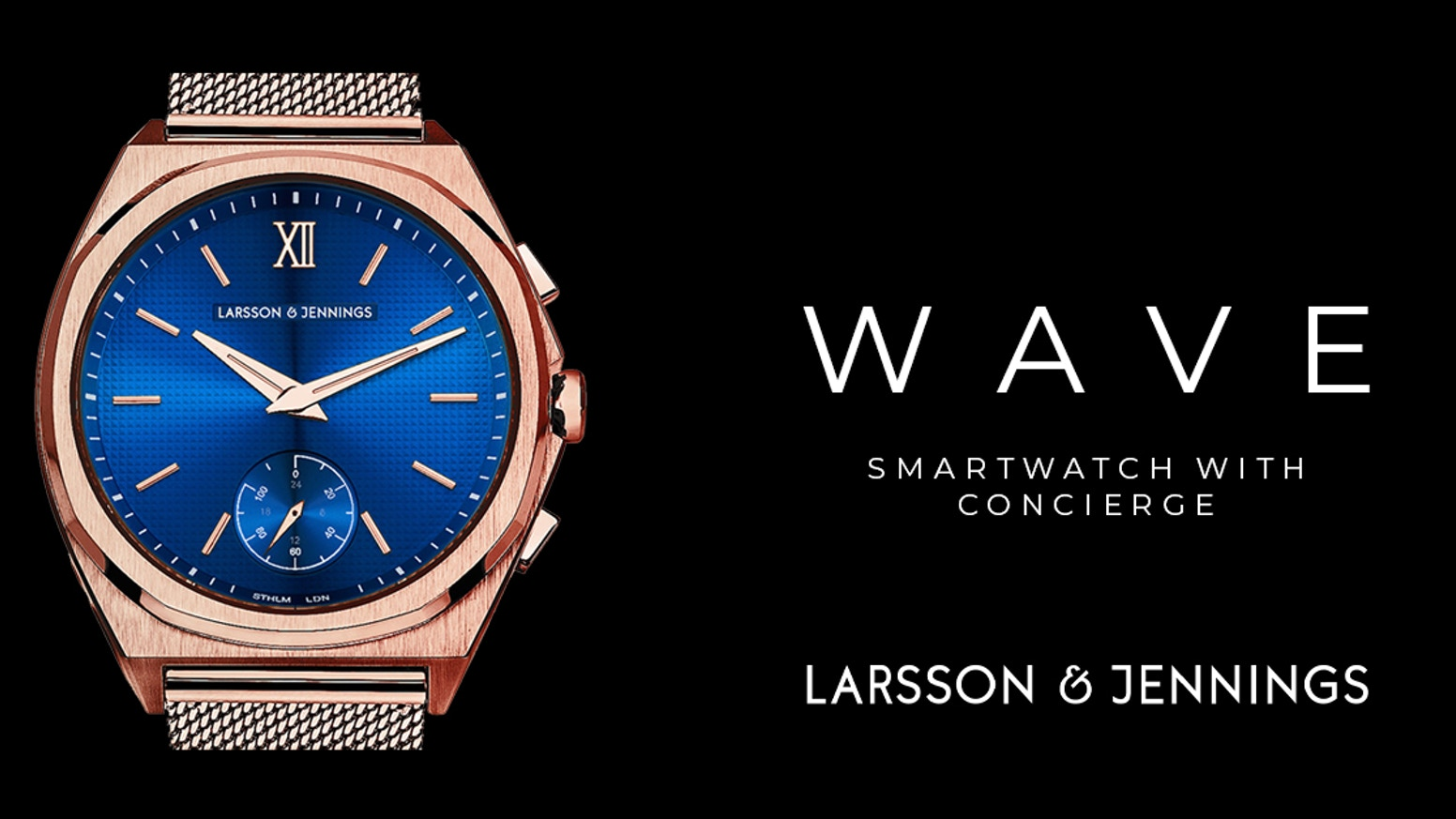 Luxurious design & specification with multi-function smart features - Fitness | Music | Notifications | Apps by Larsson & Jennings