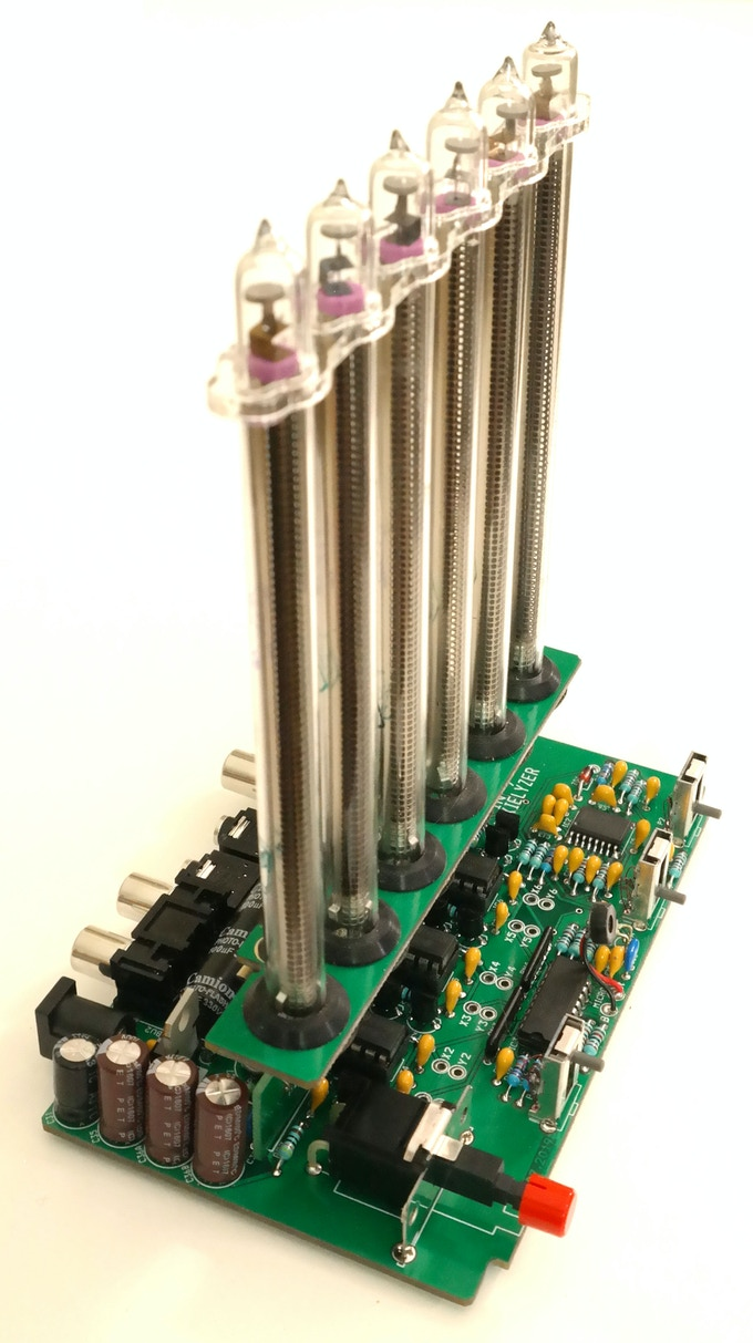 Assembled PCB with fitted tube board (Prototype)
