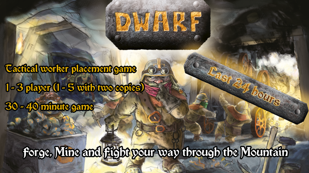 Dwarf board game project video thumbnail
