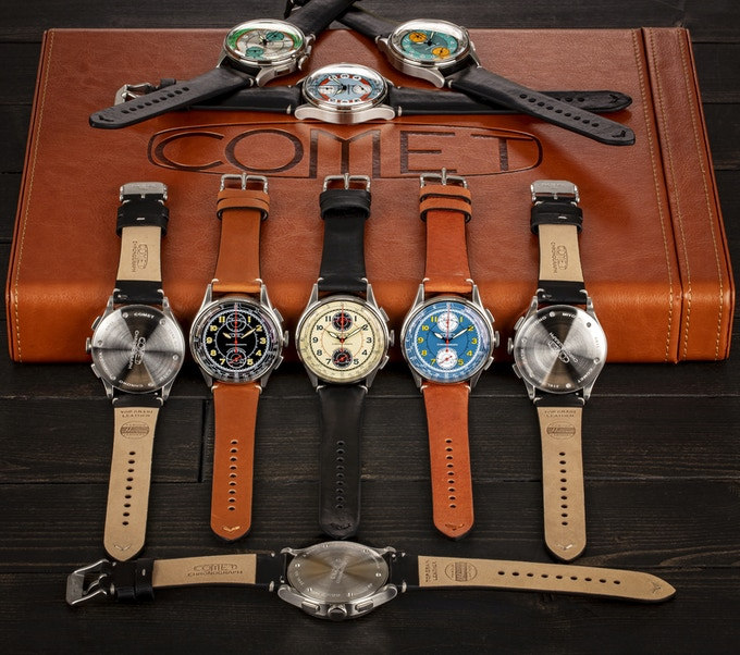 Brown strap - Black dial, Tan-brown strap-Blue dial and Black strap - All other dials