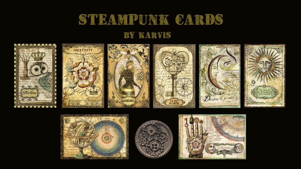 Steampunk cards set project video thumbnail