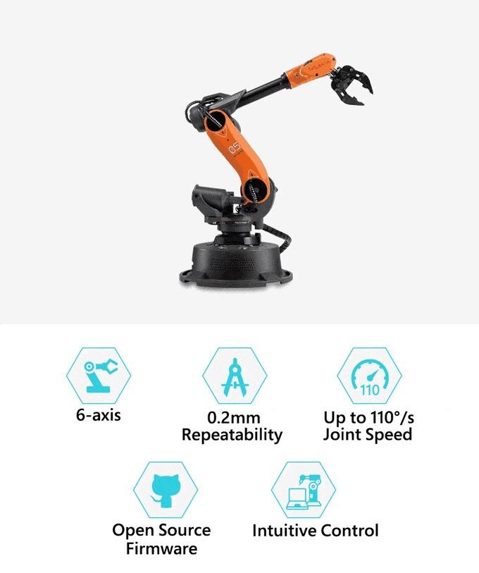 BackIt com - Mirobot, 6-axis Mini Industrial Robot Arm