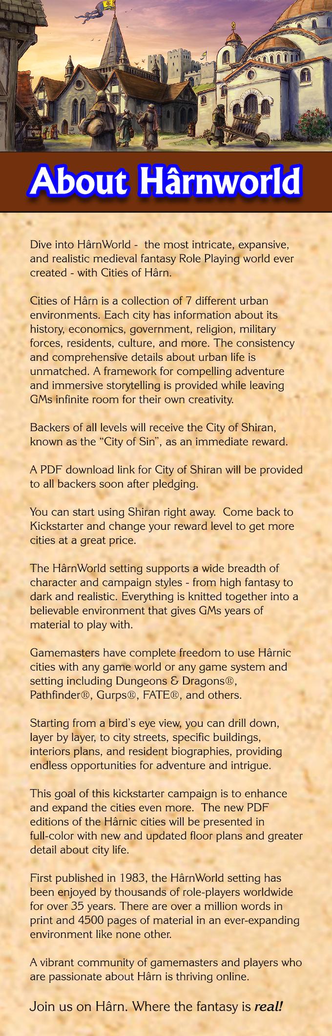 Cities of Hârn by Columbia Games — Kickstarter