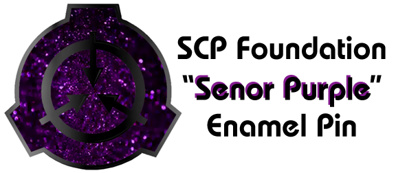 PURPLE GLITTER SCP Pins - STRETCH GOAL UNLOCKED!!!
