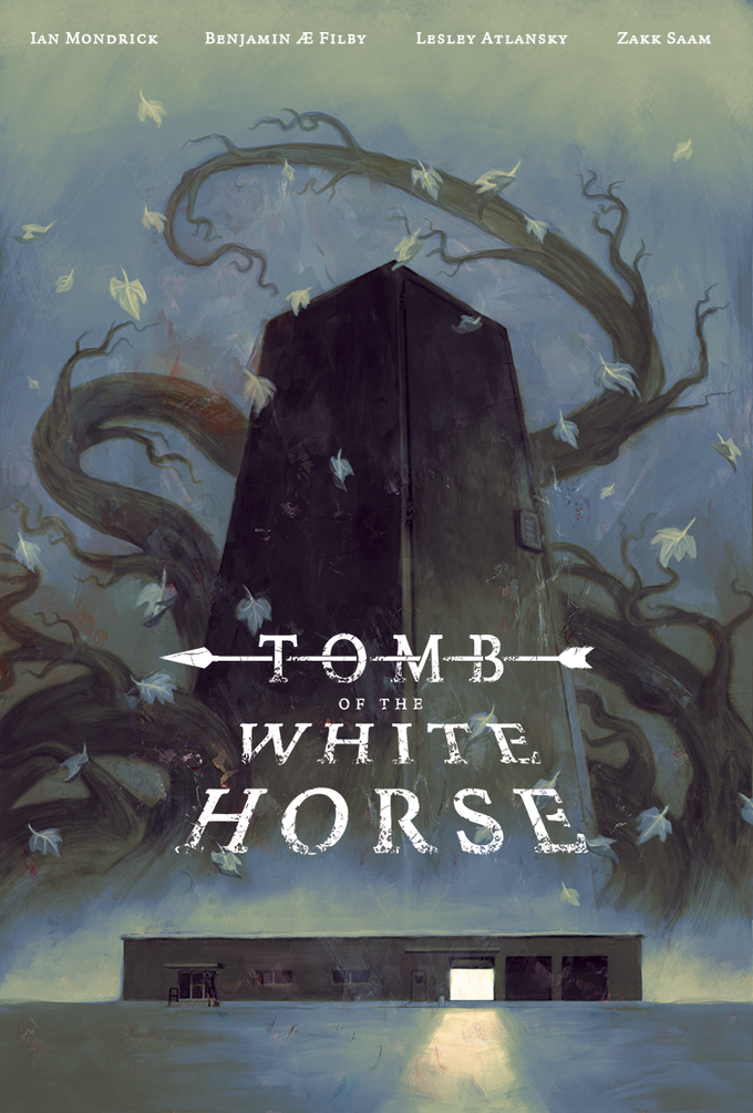 TOMB of the WHITE HORSE final cover - Cover art by Kim Myatt