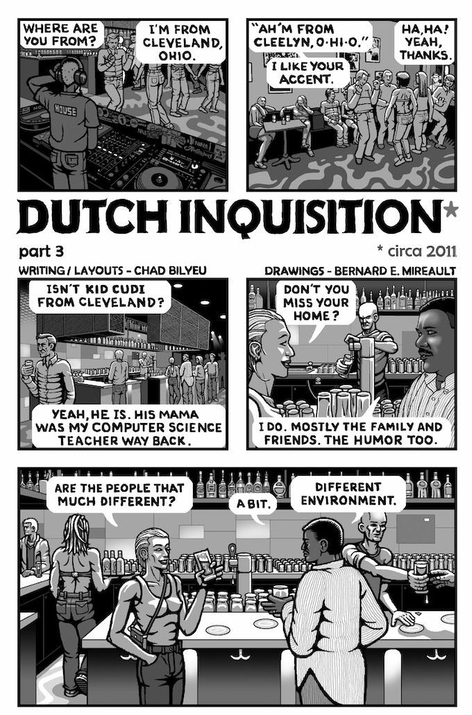 The Dutch Inquisition, part 3 (art by Bernie Mireault)