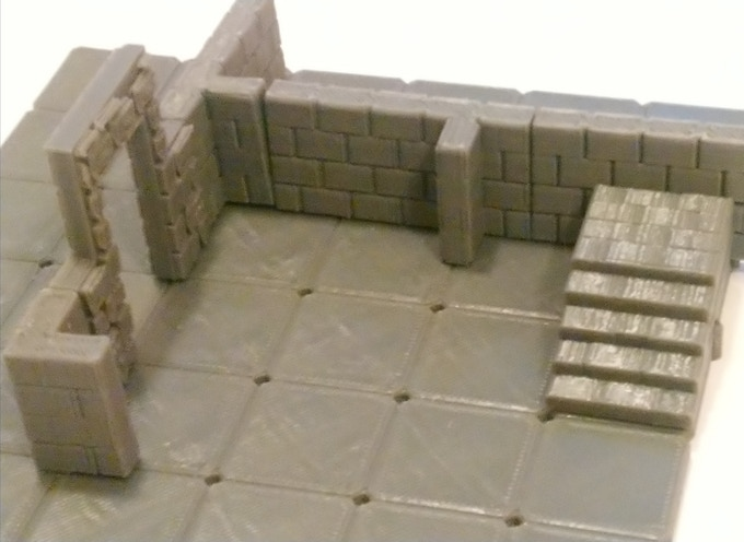 The first prototype, before stacking walls were added