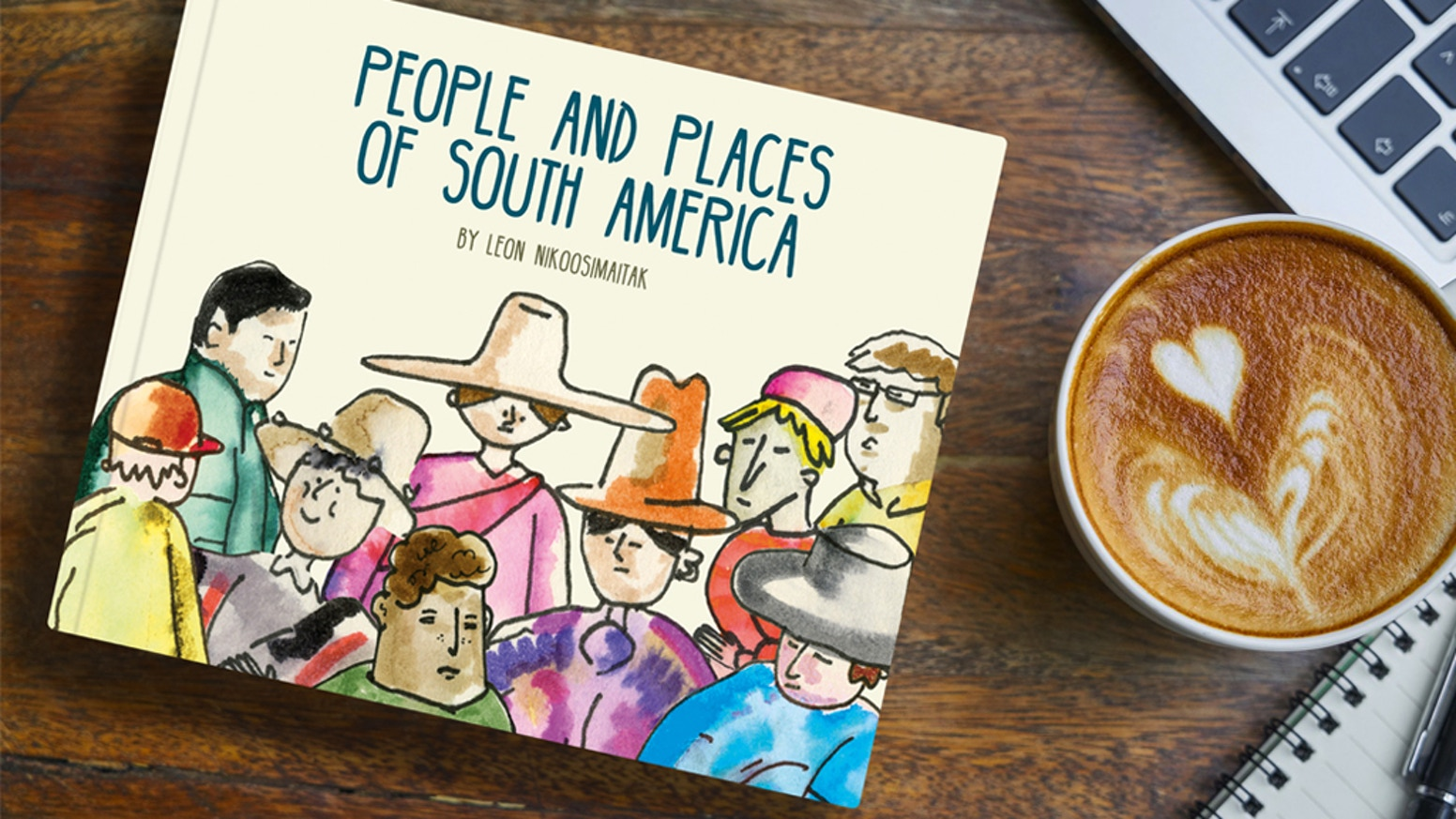 An interactive illustration book packed with 50+ drawings and some well-written copy.