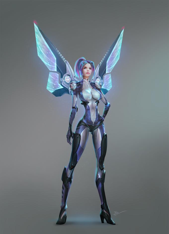 Cyber Belles: Blue Belle