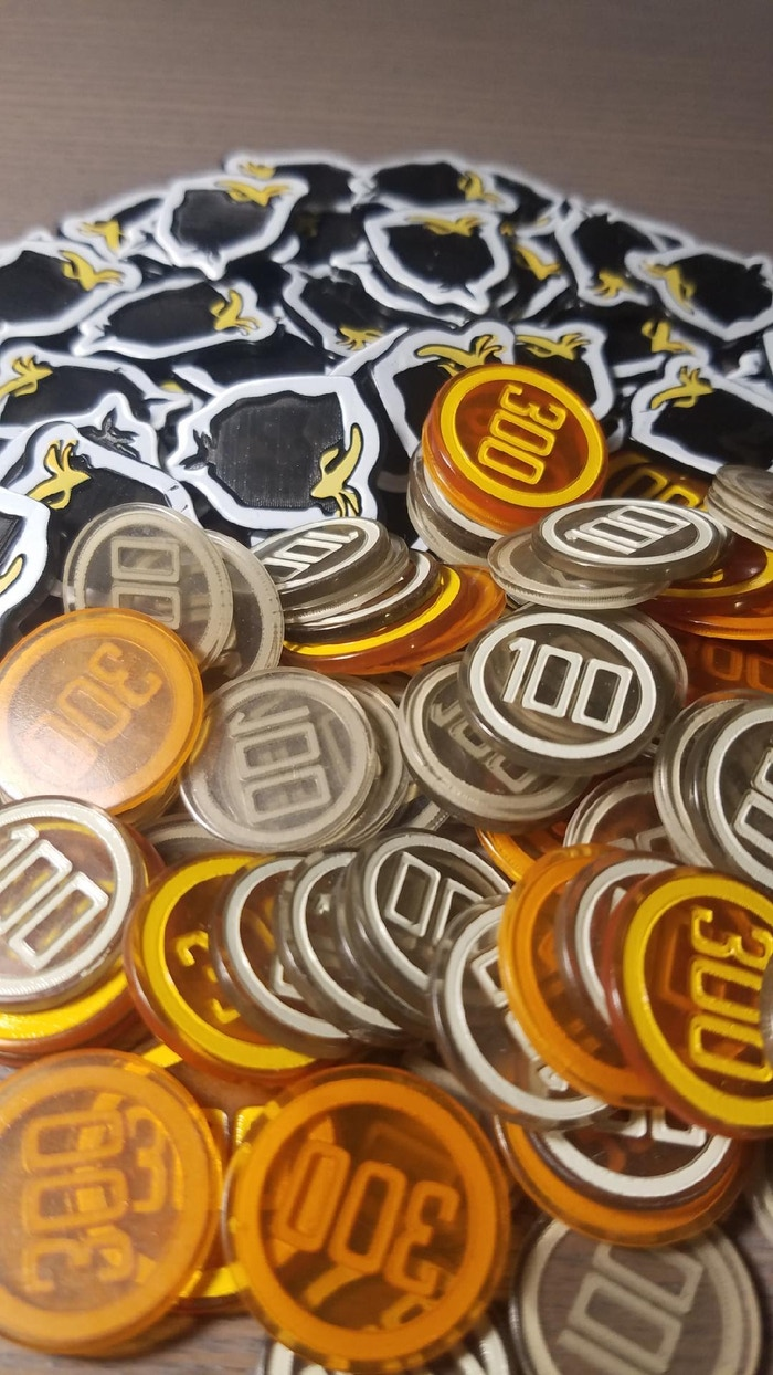 😍😍😍 DELUXE acrylic coins and garbage tokens 😍😍😍
