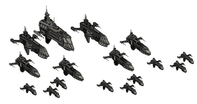 All the vessels included in the Patrol Fleet