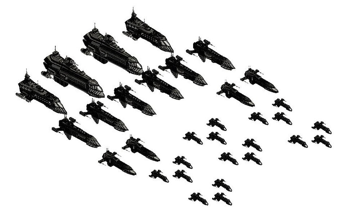 Everything included in the Crusade Fleet
