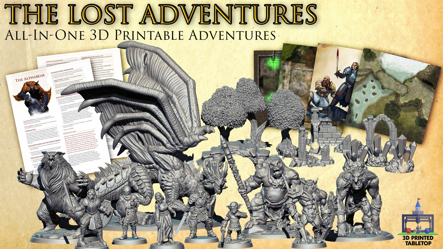 The Lost Adventures: All-In-One 3D Printable Adventures by