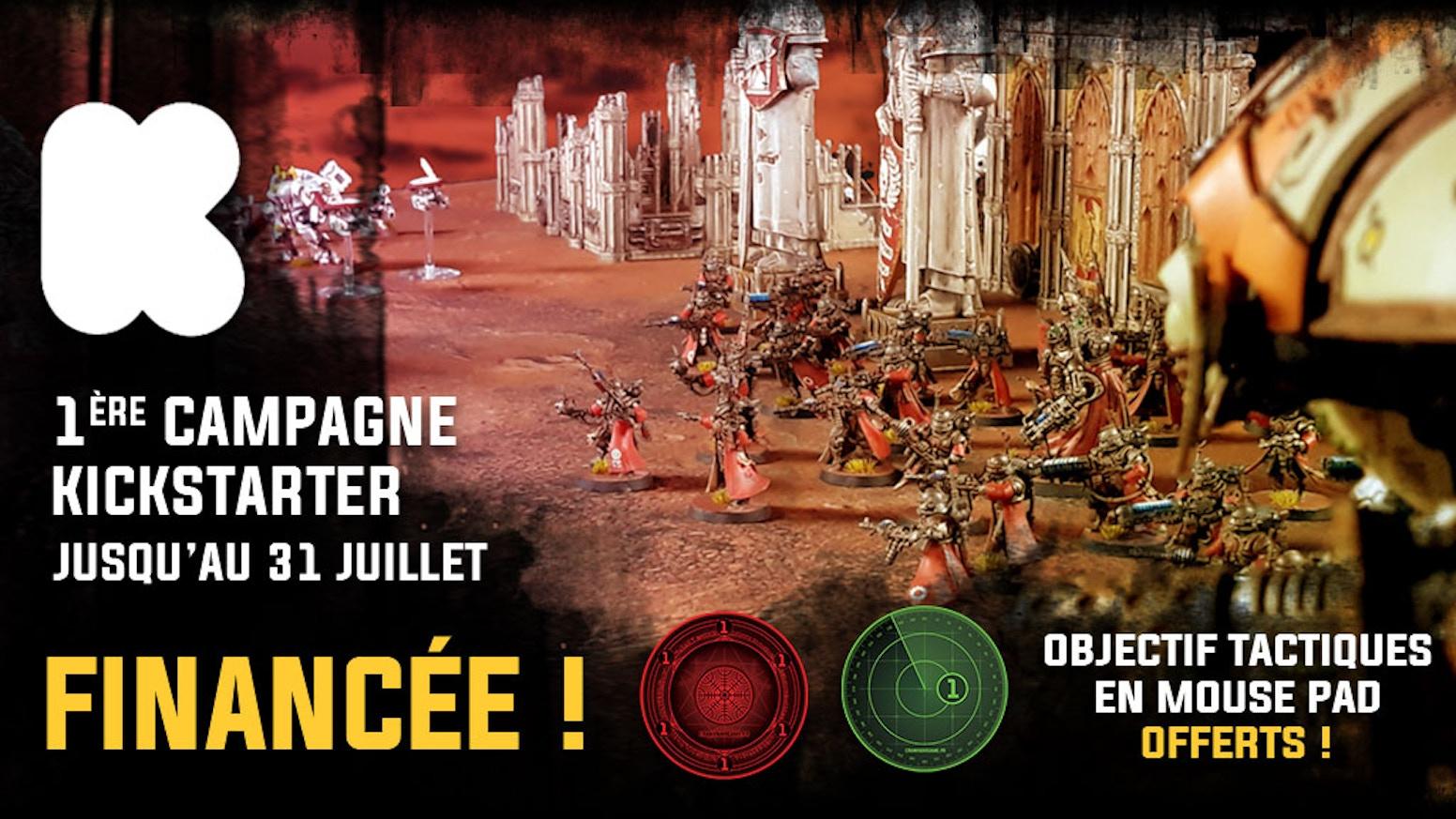 """Pré-commandez notre nouvelle collection de Gaming & Battle Mats, en avant première et à un tarif spécial """"Kick Starter""""."""