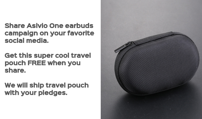 Share Asivio One Campaign on your social media platforms and get this travel pouch FREE.