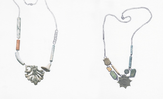 9. From left to right: Florette Necklace | Bravery Necklace