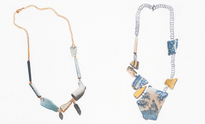 11. From left to right: Relic Necklace | Delft Necklace