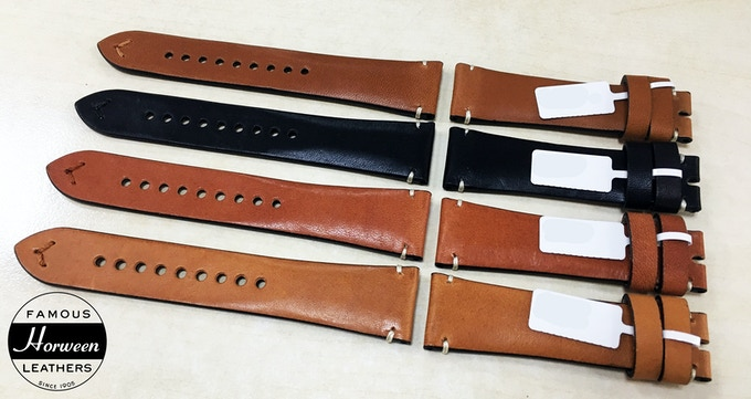 Factory Image - Working prototype - Leather Strap (Comet Chronograph)