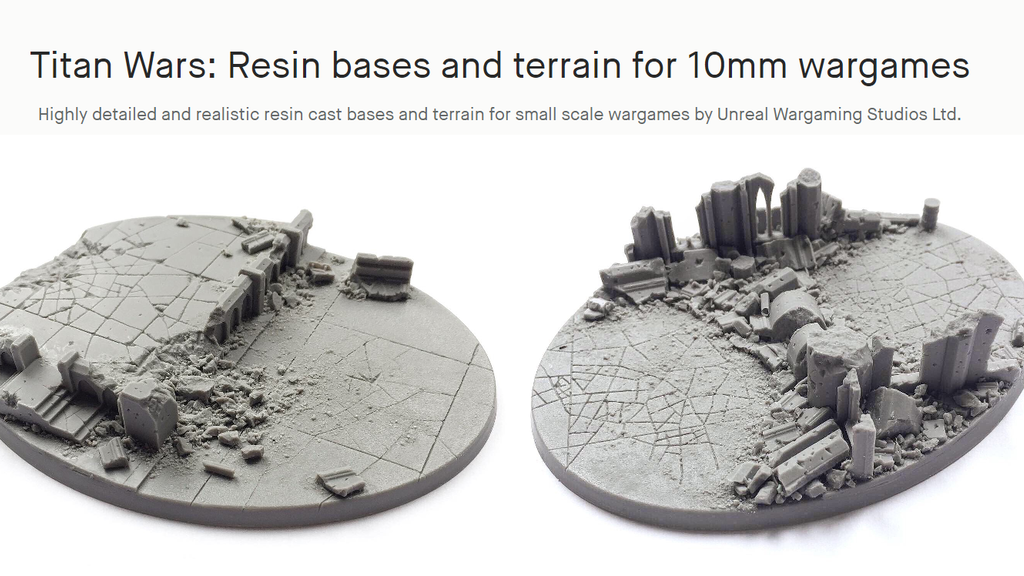 Project image for Titan Wars: Resin bases and terrain for 10mm wargames