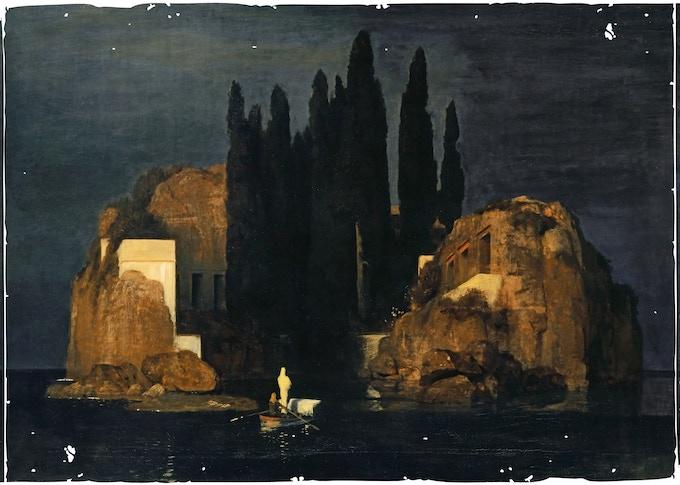 Arnold Böcklin - Die Toteninsel I - (Public Domain Mark)