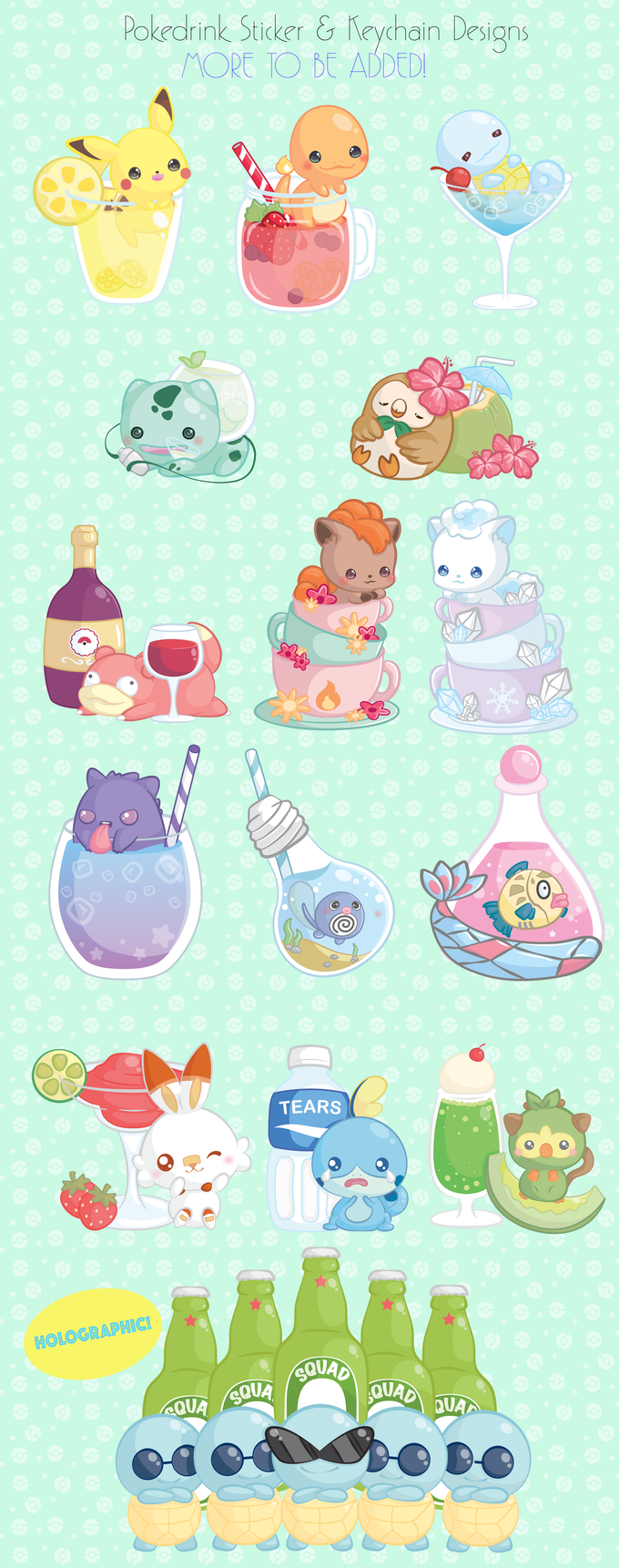 Stickers & Keychain designs (more to be added!)