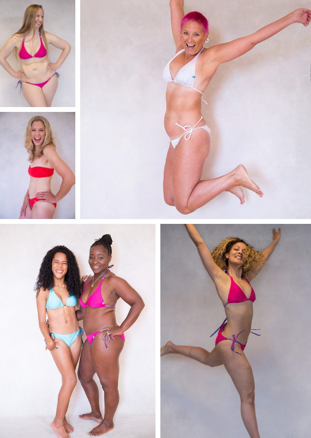 The girls in the photo shoot are the daughters, niece's and friends daughters of our real women models