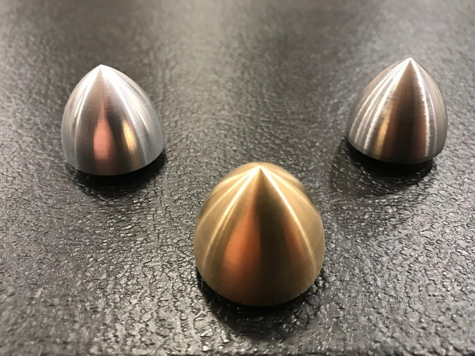 My first Kickstarter, Reuleaux Cones, which are 3D shapes revolved from a Reuleaux Triangle