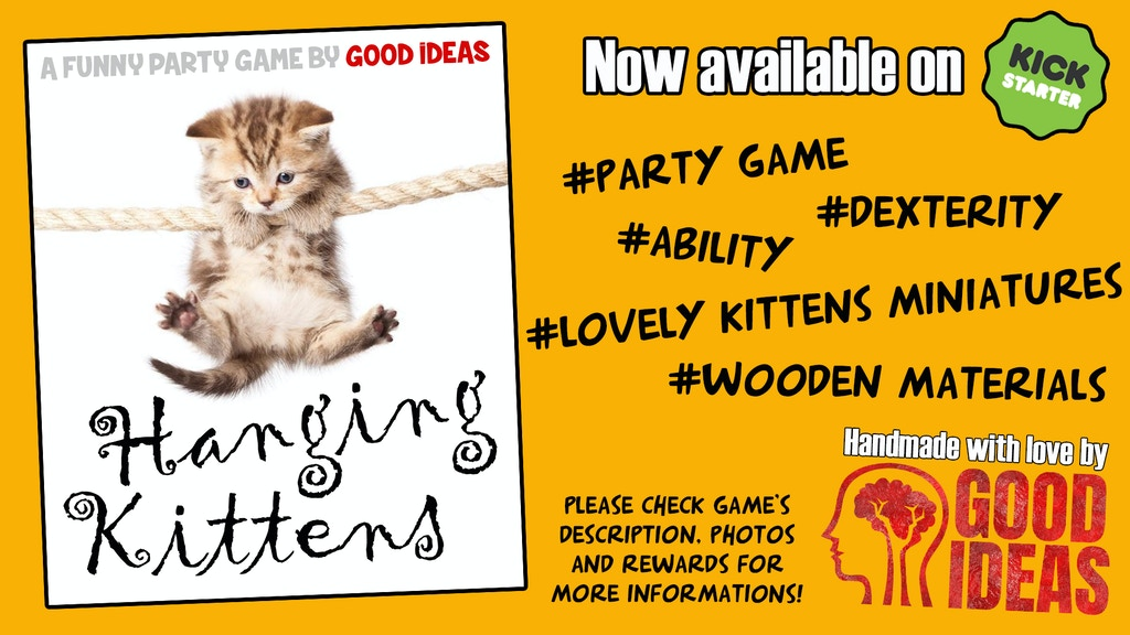 HANGING KITTENS! The party game project video thumbnail