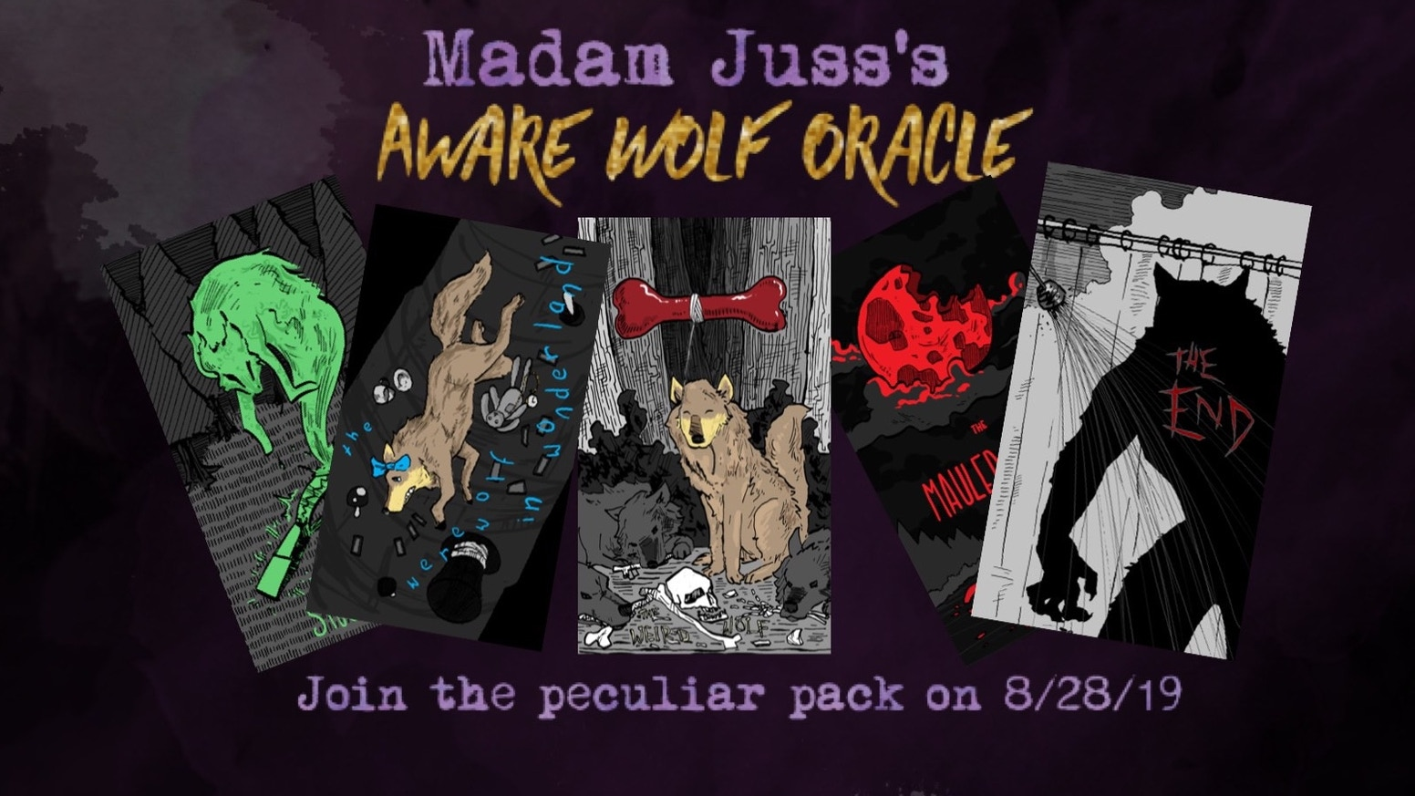 Shift happens! Madam Juss's Aware Wolf Oracle is here to add some werewolfery into your life and divination practice, calm or chaotic!