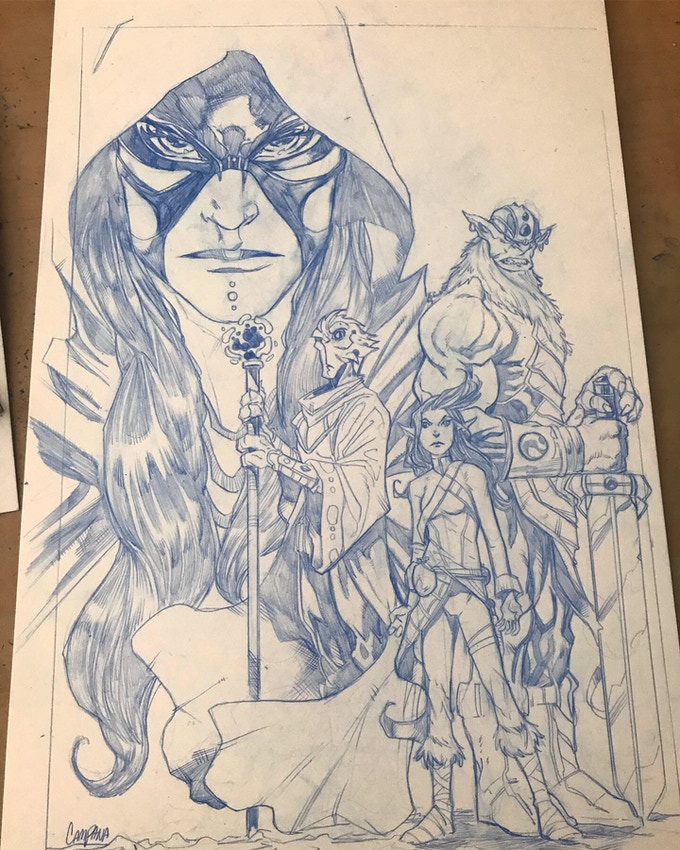 Pencils to the cover of issue one!