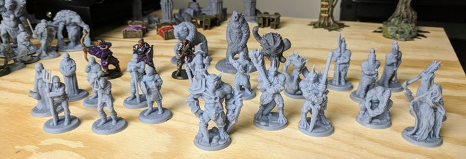 Some of the Support-Free/Slicer Supportless Minis from the Lost Adventures (includes stretch goal minis)