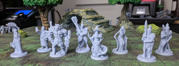 The Work of 4 Community Artists Represented: Onmioji, Artisan's Guild, Cast 'N Play, and Vae Victis Miniatures