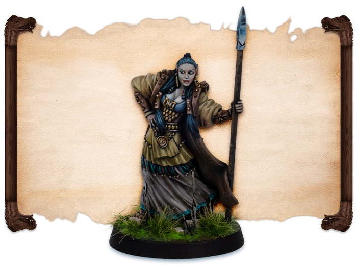 Yollannii painted by Robert Karlsson.  Note that figures come UNPAINTED.