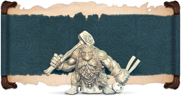Ivory rendition of Morkka, front view.
