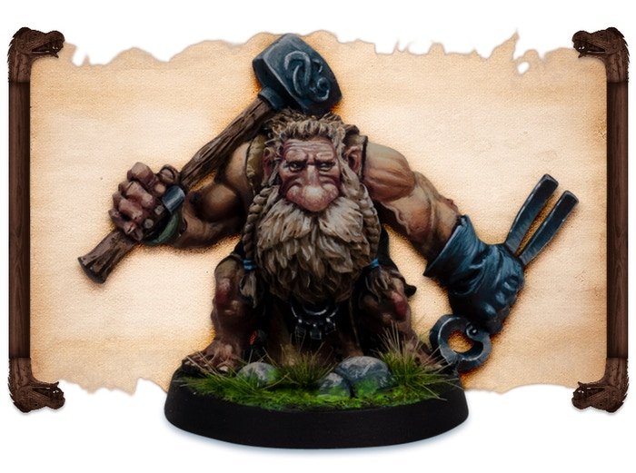 Morkka painted by Robert Karlsson.  Note that figures come UNPAINTED.