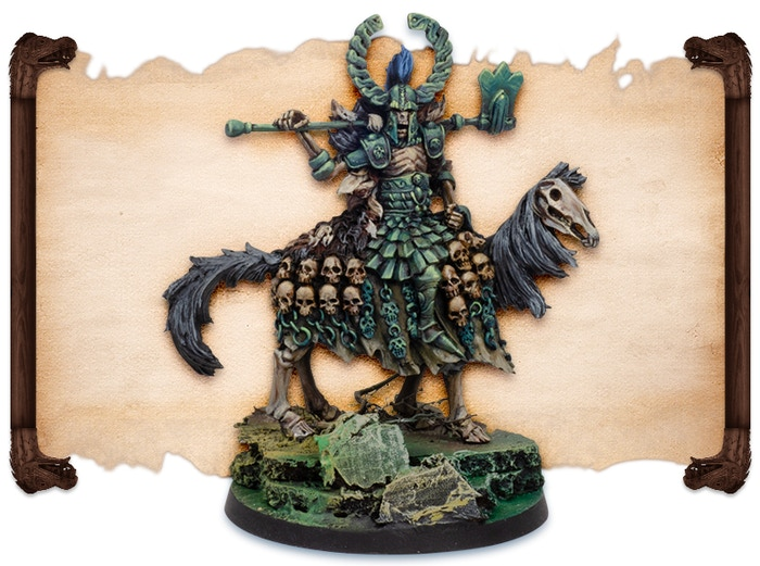 Draugr Leader painted by Fabrizio Russo.  Note that figures come UNPAINTED.