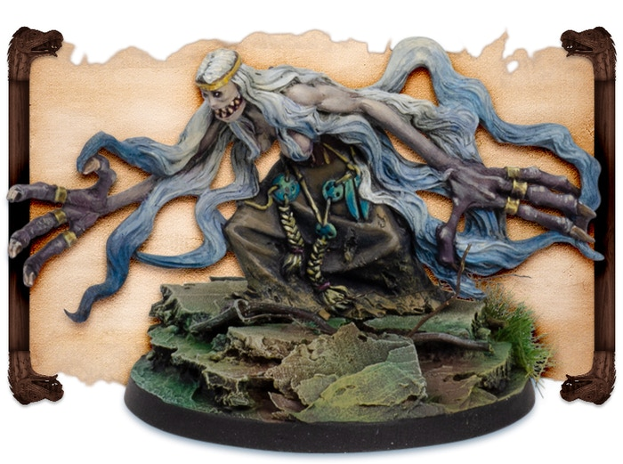 Mare painted by Fabrizio Russo.  Note that figures come UNPAINTED.