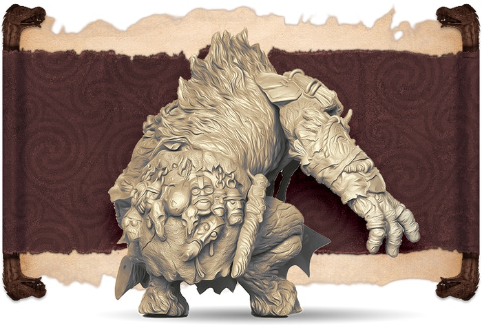 Ivory rendition of the Tursir Ox, back view.  Sculpted by Juan Navarro.