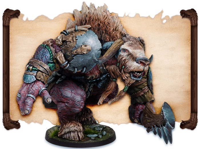 Tursir Ox painted by Robert Karlsson.  Note that figures come UNPAINTED.