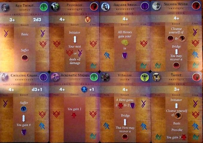 Example Hero Skill Cards