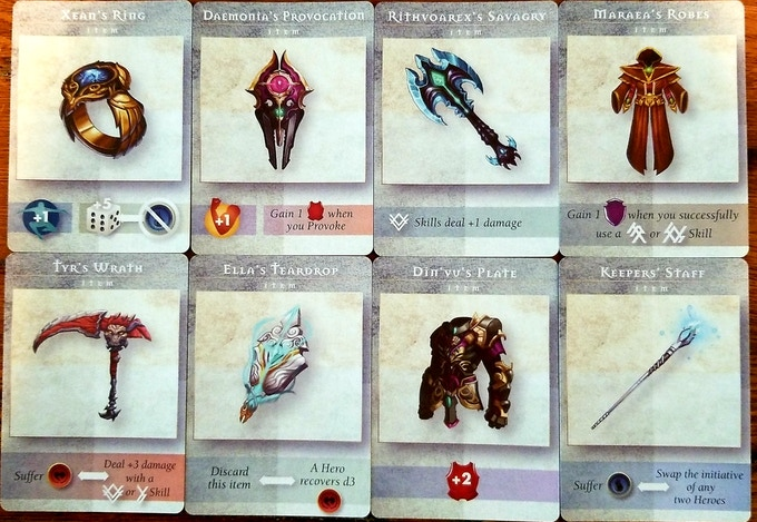 Example Item Cards