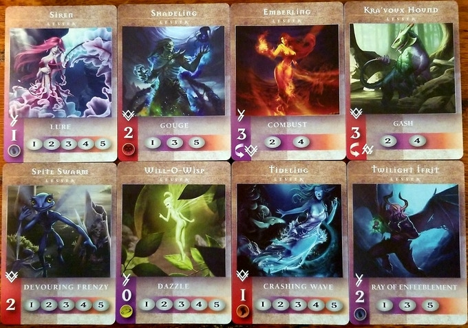 Example Lesser Monster Cards